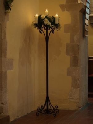 TALL BLACK CANDLE STAND