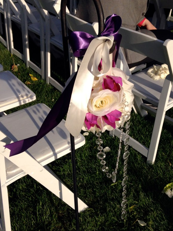 A closeup on the aisle arrangements.