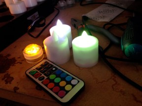 Remote-controlled lights.