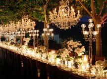 Outdoor Wedding Decorations- Chandeliers   WeddingElation