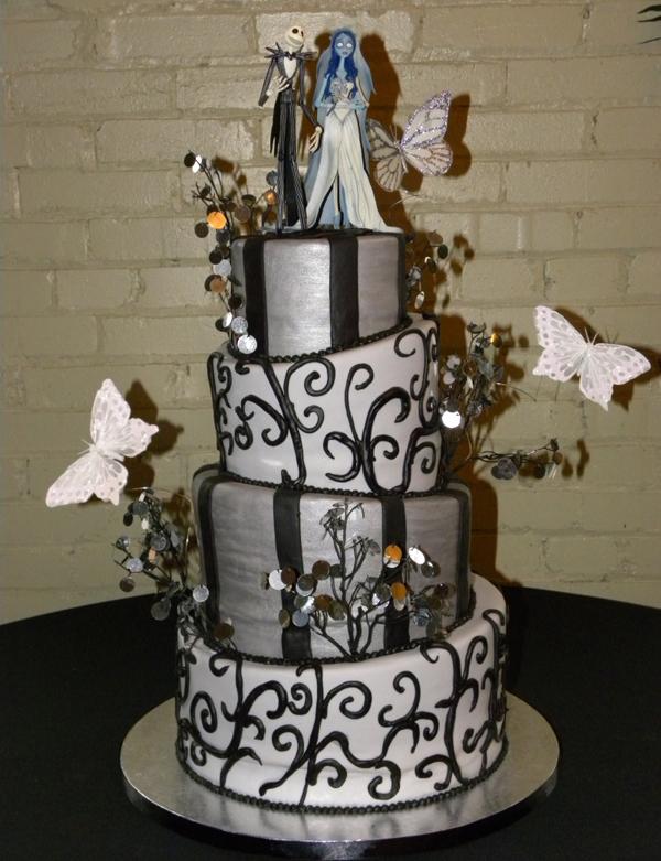 HalloweenThemed Wedding Cakes  WeddingElation
