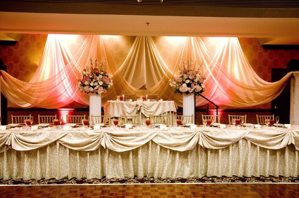 Great Ideas of the Head Tables Decor  WeddingElation