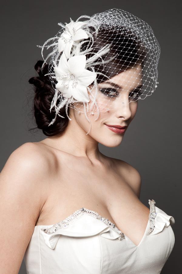 Hairstyles For The Birdcage Veils WeddingElation