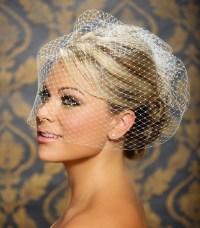 Hairstyles for the Birdcage Veils | WeddingElation