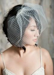 hairstyles birdcage veils