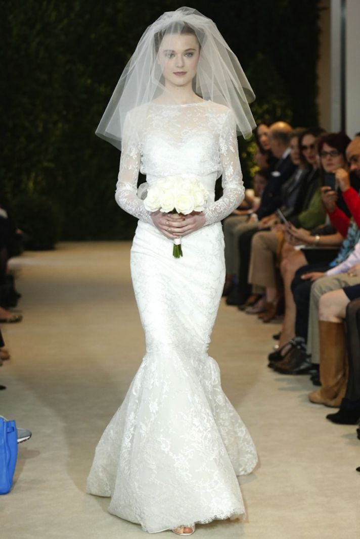 Classy And Chic Carolina Herrera Spring 2014 Wedding Dress