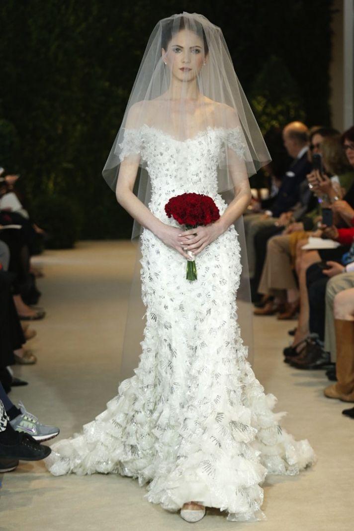 Classy And Chic Carolina Herrera Spring 2014 Wedding Dress Collection  WeddingElation