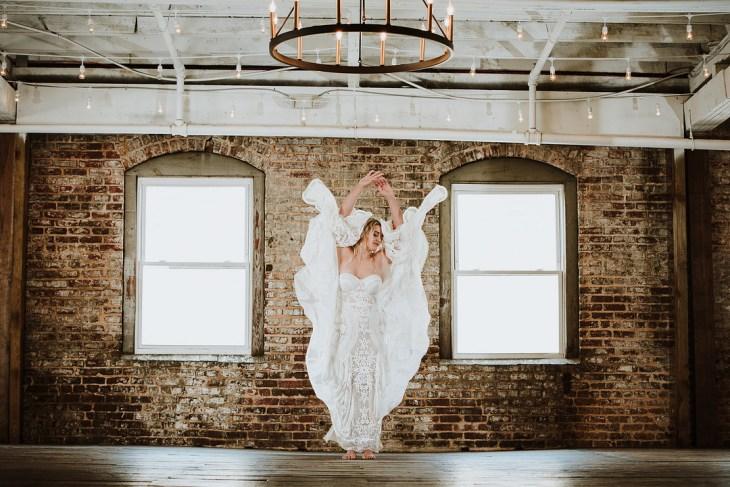 Bridal Portraits At The Downtown Warehouse