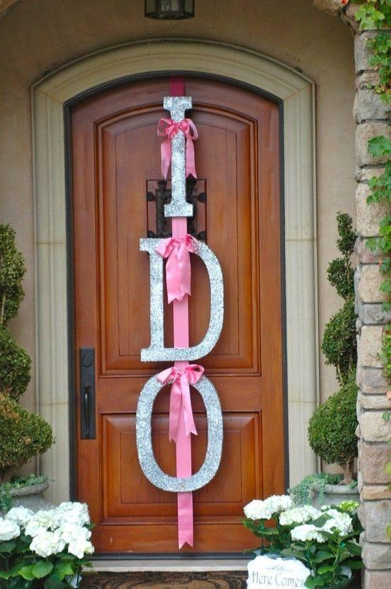 Wedding Shower Door Decor Ideas