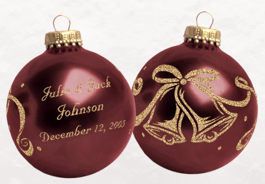 Christmas Ornaments As Wedding Favors