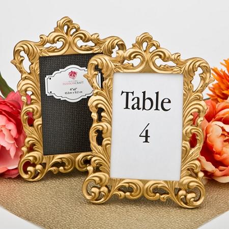Baroque Gold Metallic Photo Frame Baroque Style Wedding