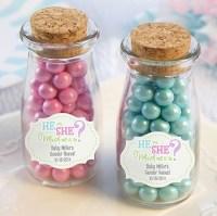 Gender Reveal Personalized Milk Jars - Baby Shower Favors