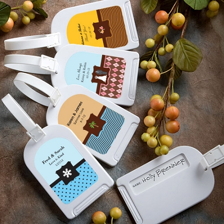 Personalized Luggage Tag Wedding Favors  Destination