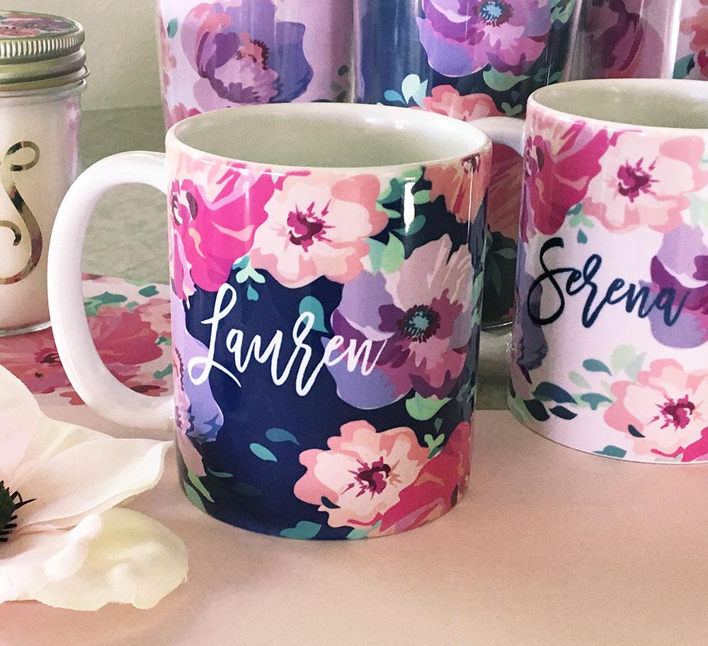 floral coffee mugs