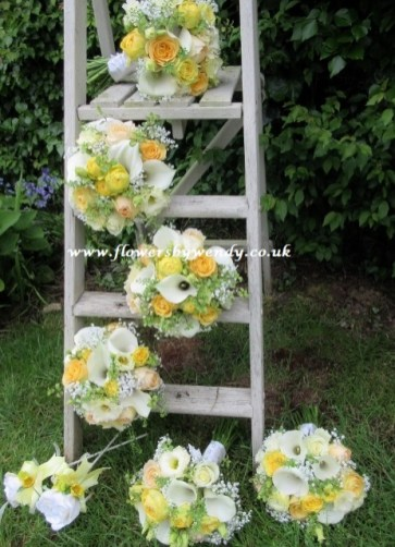 Handtie bouquets made to match