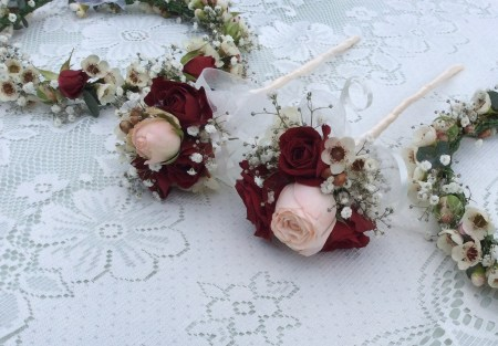 Flower Girl Wands and headresses