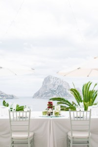 Red and white Wedding with Es Vedra View in Anam Cara