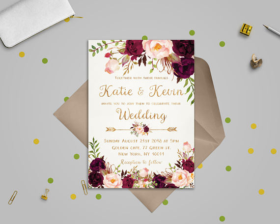 Wedding invitations that lie flat will cost less to mail!