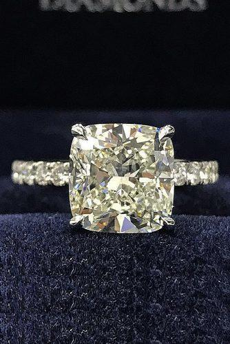 30 Brilliant Cushion Cut Engagement Rings Wedding Forward