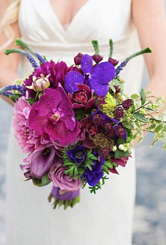 elegant wedding bouquets bright violet bouwuet rachelaclingen