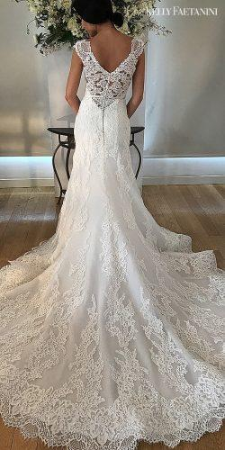kelly faetanini wedding dresses short sleeve v shape back white lace