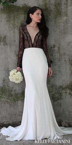 kelly faetanini wedding dresses unique black and white long sleeve natural portia