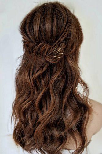 45 Perfect Half Up Half Down Wedding Hairstyles Wedding Forward