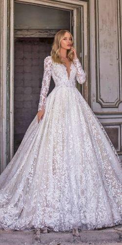 wona váy cưới dạ hội với tay áo dài v đường viền cổ áo ren sequins nelson Ảnh váy cưới lấp lánh