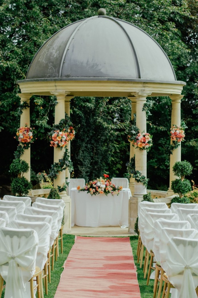 shelter at outdoor wedding