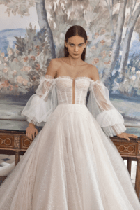 off-the-shoulder-sleeves-winter-wedding-dress