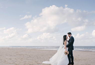 Navy And Coral For A Beautiful Norfolk Beach Wedding