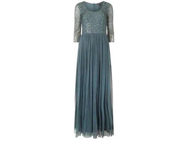green long-sleeve beaded maxi dress Dorothy Perkins best bridesmaid dresses