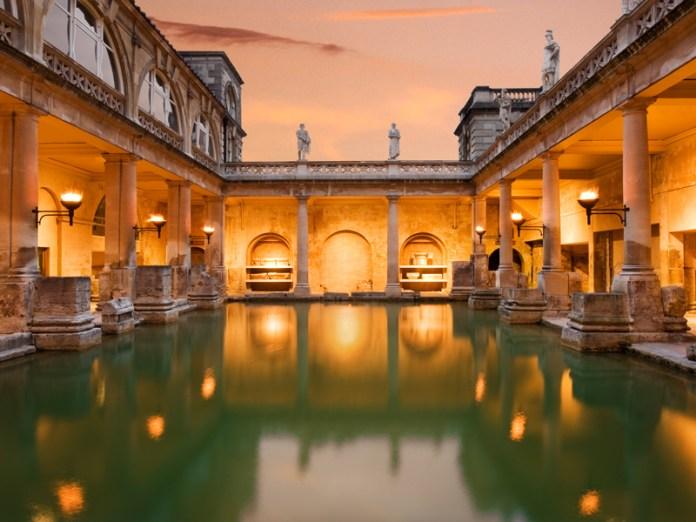 Roman-Baths-at-night-James-Davies