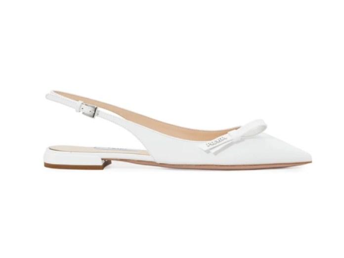 "prada-slingback-flat-wedding-shoes ""width ="" 800 ""peak ="" 601 ""srcset ="" https://www.weddingideasmag.com/wp-content/uploads/2019/02/prada-slingback-flat-wedding -shoes.jpg 800w, https://www.weddingideasmag.com/wp-content/uploads/2019/02/prada-slingback-flat-wedding-shoes-300x225.jpg 300w, https://www.weddingideasmag.com /wp-content/uploads/2019/02/prada-slingback-flat-wedding-shoes-768x577.jpg 768w, https://www.weddingideasmag.com/wp-content/uploads/2019/02/prada-slingback- flat-wedding-shoes-650x488.jpg 650w, https://www.weddingideasmag.com/wp-content/uploads/2019/02/prada-slingback-flat-wedding-shoes-80x60.jpg 80w, https: // www.weddingideasmag.com/wp-content/uploads/2019/02/prada-slingback-flat-wedding-shoes-265x198.jpg 265w ""sizes ="" (max-width: 800px) 100vw, 800px ""/></p data-recalc-dims="