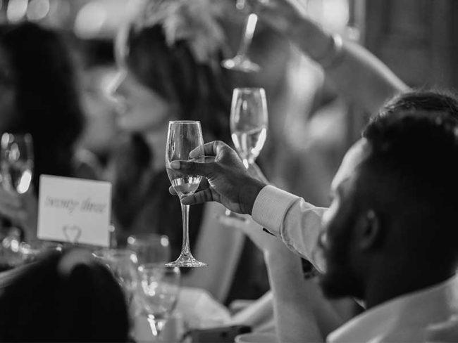 toasting the speech English sparkling wine