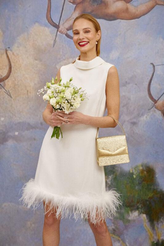 Candice short wedding dress Rixo bridal