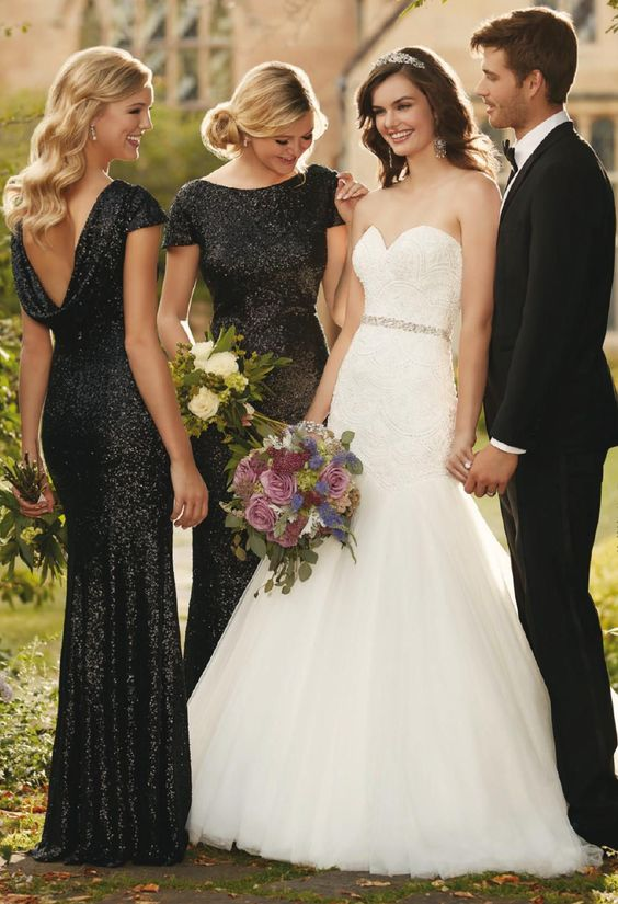 Don T Miss These 22 Black Bridesmaid Dresses For Your Fall And Winter Wedding