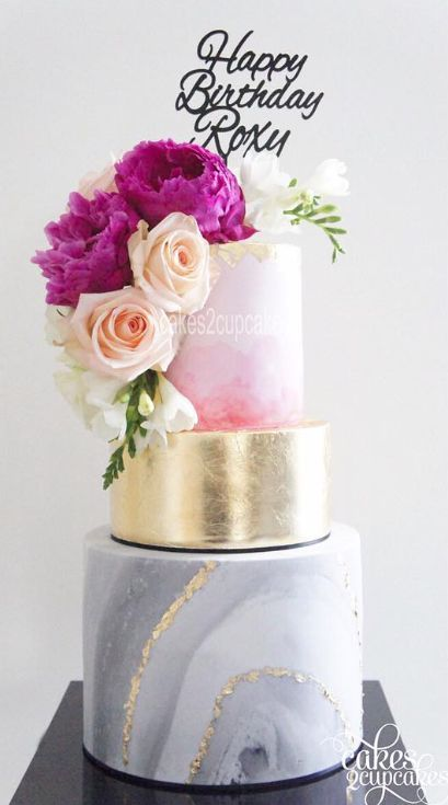 23 Unique And Elegant Marble Wedding Cake Ideas