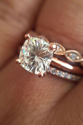 29 Most Popular Rose Gold EngagementWedding Rings Worth