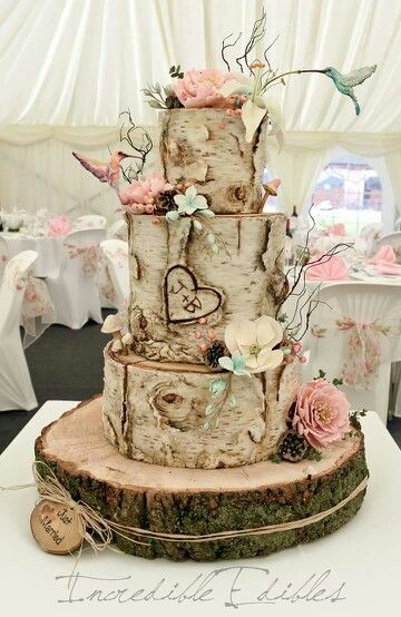 22 Rustic Tree Stumps Wedding Cakes for Your Country Wedding  Page 2