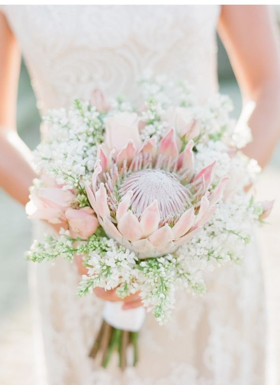 22 Tropical King Protea Wedding Bouquets Ideas  Page 2