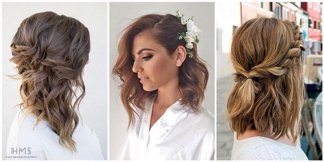 lovely medium length hairstyles for fall weddings