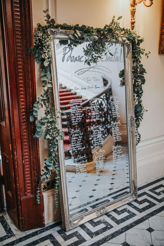 27 Vintage Mirror Wedding Sign Decoration Ideas  Page 3