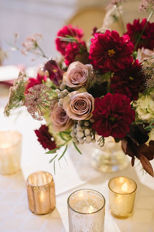 22 Romantic Burgundy and Rose Gold Fall Wedding Ideas  Page 2
