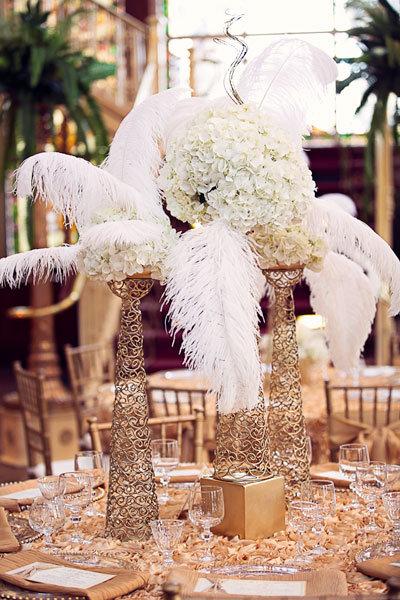 25 Black and Gold Great GatsbyInspired Wedding Ideas