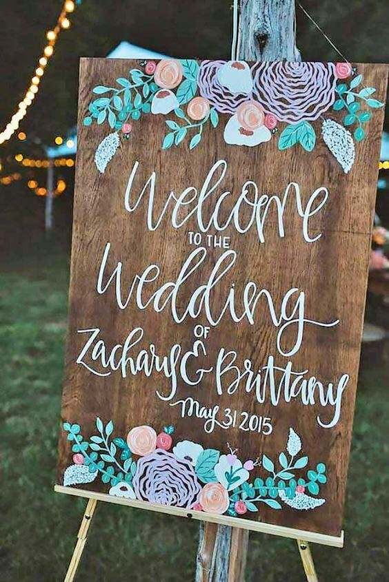25 Awesome Wedding Welcome Signs to Rock