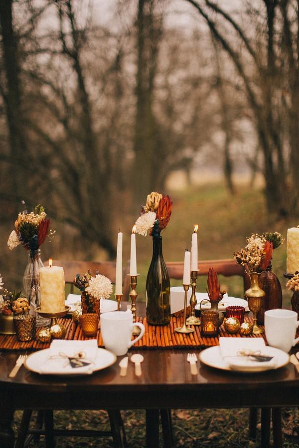 Romance And Warmth 29 Genius Winter Wedding Table