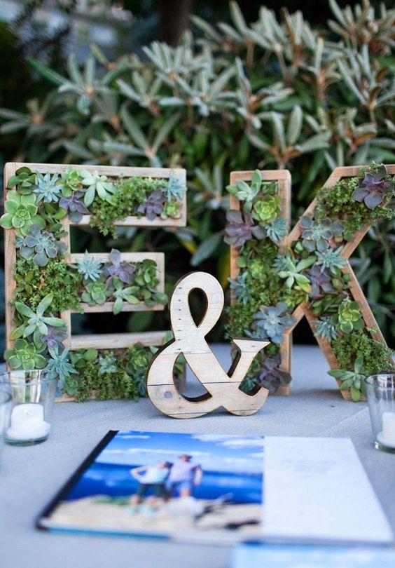 monogram bridal shower ideas