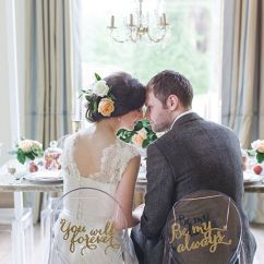 Wedding Chair Back Decorations Used Accent Chairs 20 Chic Decoration Ideas For Bride And Groom