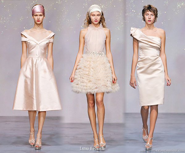 Luisa Beccaria Spring Summer 2010 collection - Short blush/nude/champagne gold dresses